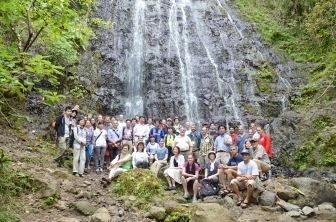 Group photo at Waihe'e Falls.