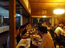 Banquet dinner at the Natsunoya Tea House.